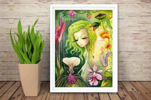 Exotic Flowers, frame