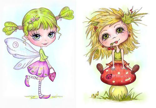 The Little Fairy, Girl with Mushroom