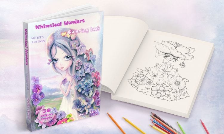 Coloring book for adult. Whimsical wonders